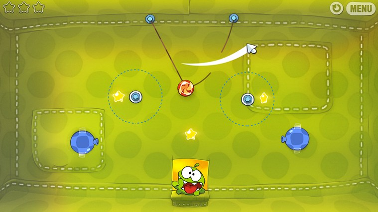 Cut The Rope skjermbilde 1