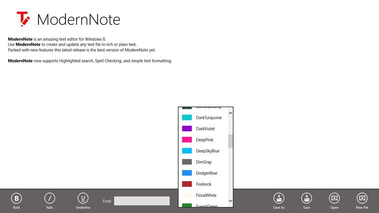 ModernNote for Win8 UI  full