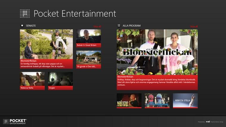 Pocket Entertainment-skärmbild 1