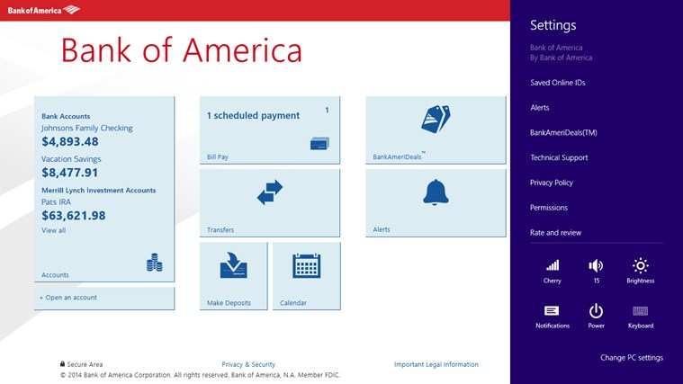 Bank of America screen shot 7