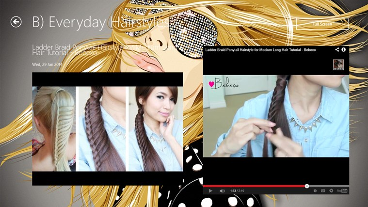 Hairstyle App screen shot 1