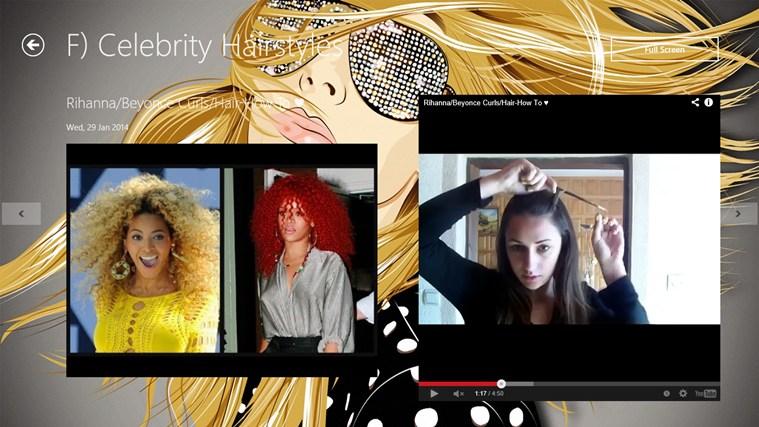 Hairstyle App screen shot 3