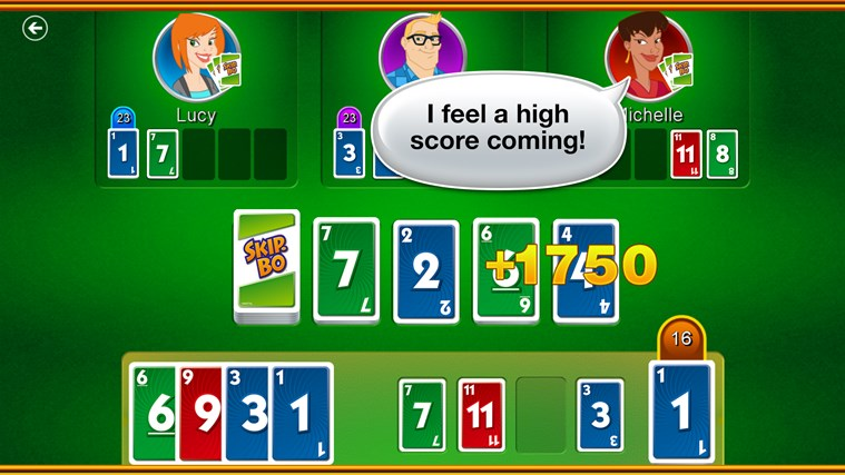 Skip-Bo™ screen shot 1