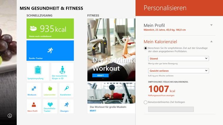 MSN Gesundheit & Fitness Screenshot 5