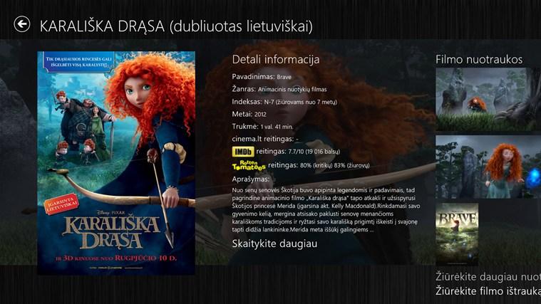 Filmai by cinema.lt ekrano nuotrauka 1