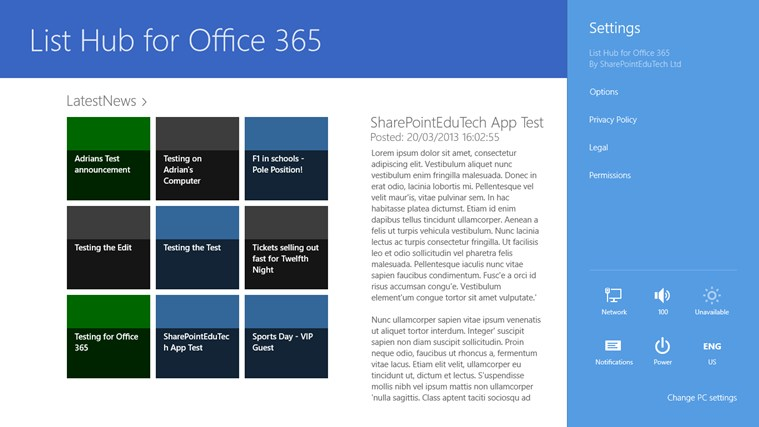 List Hub for Office 365 screen shot 3
