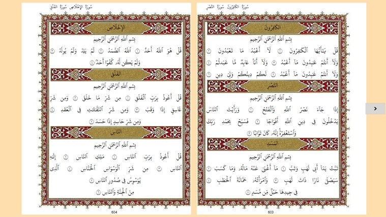Holy Quran screen shot 3