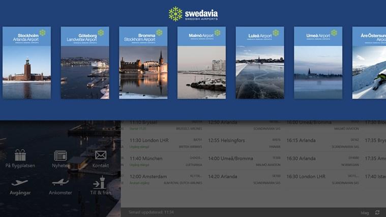 Swedavia Swedish Airports-skärmbild 1