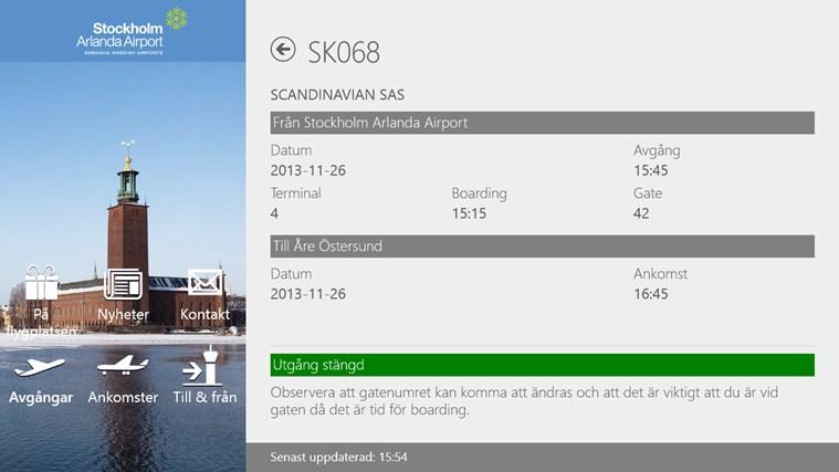 Swedavia Swedish Airports-skärmbild 3