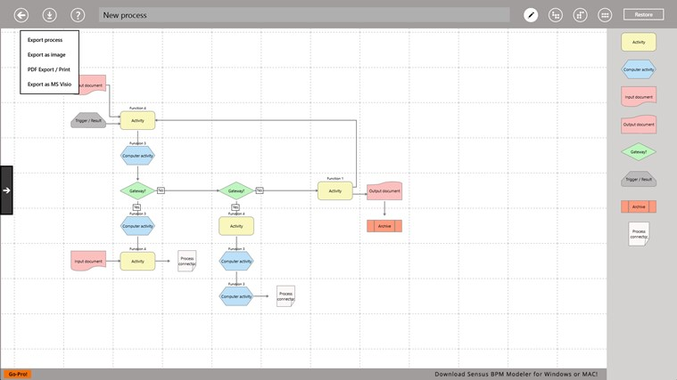 Process Modeller screen shot 1