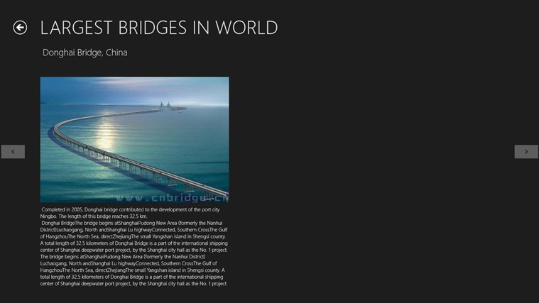 WORLD TOP TEN LARGEST BRIDGES screen shot 3
