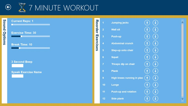 7 Minute Workout screen shot 7