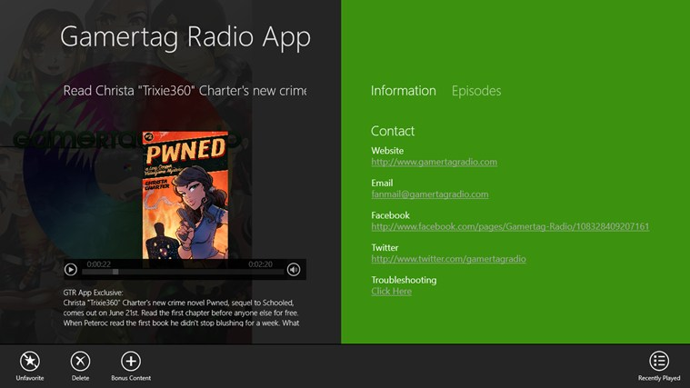 Gamertag Radio App screen shot 1