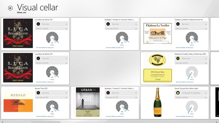 VisualCellar screen shot 3