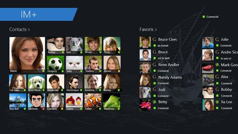 IM+ Messagerie Instantanée capture d'écran 3