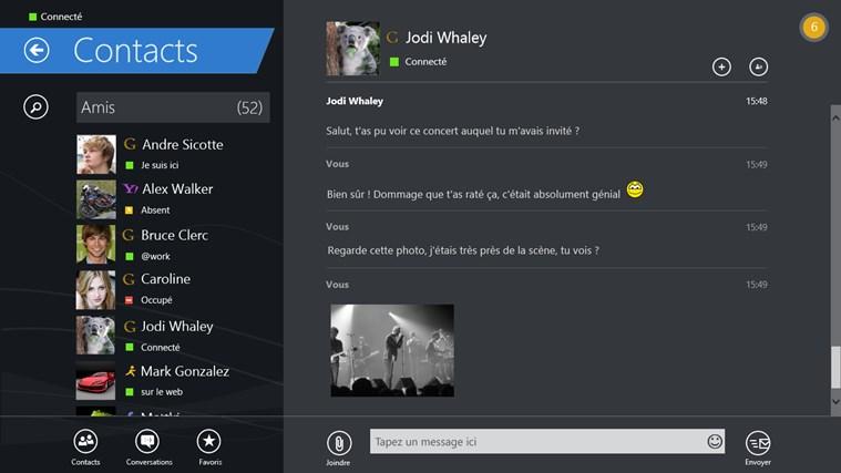 IM+ Messagerie Instantanée capture d'écran 5