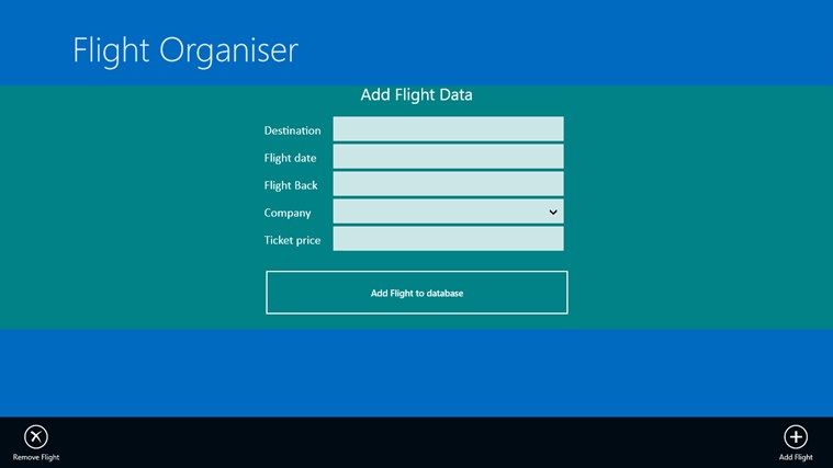 Flight Organiser screen shot 1