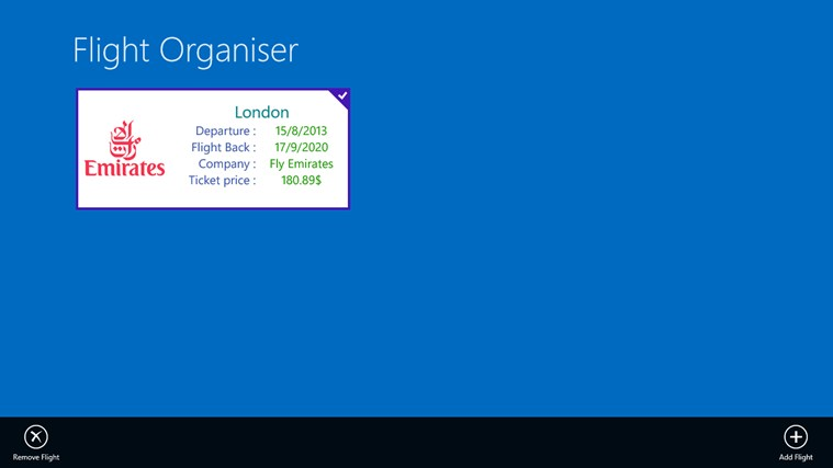 Flight Organiser screen shot 3