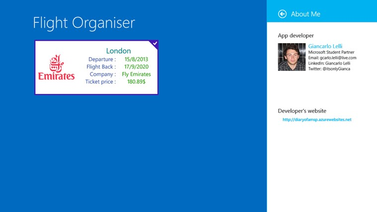 Flight Organiser screen shot 5