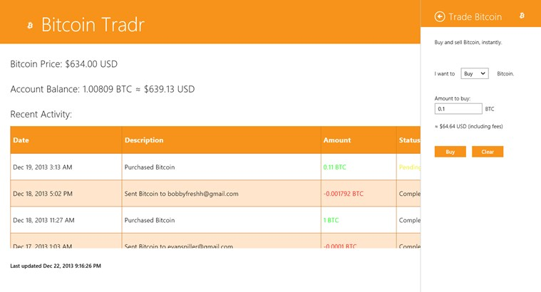 Bitcoin Tradr screen shot 3