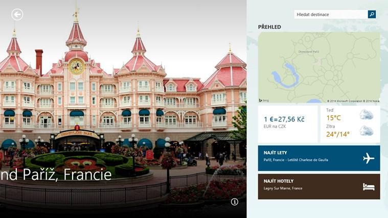 MSN Cestování snímek obrazovky 1