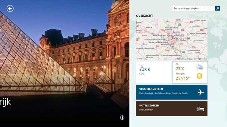 MSN reizen schermafbeelding 1