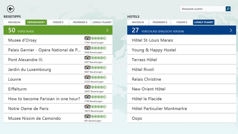 MSN Reisen Screenshot 3