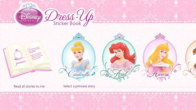 Royal Wedding Sticker Dress Up : Disney princess dress up sticker book app for windows in
