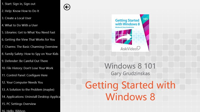 Windows 8: Getting Started Tangkapan Layar 1