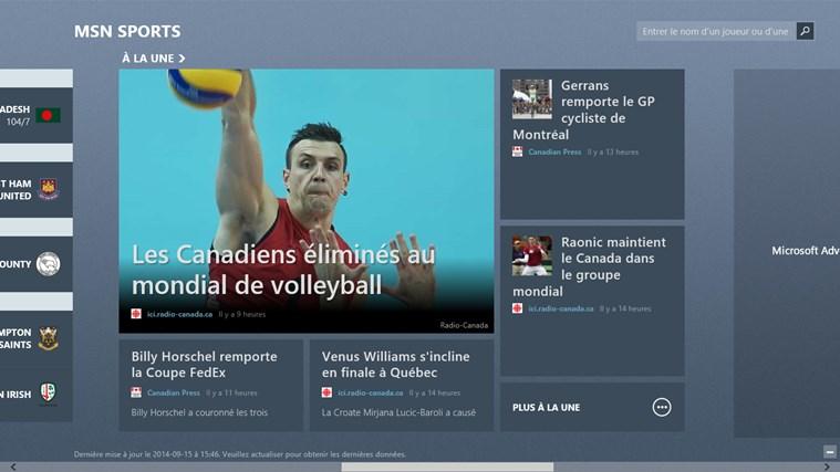 MSN Sports capture d'écran 1