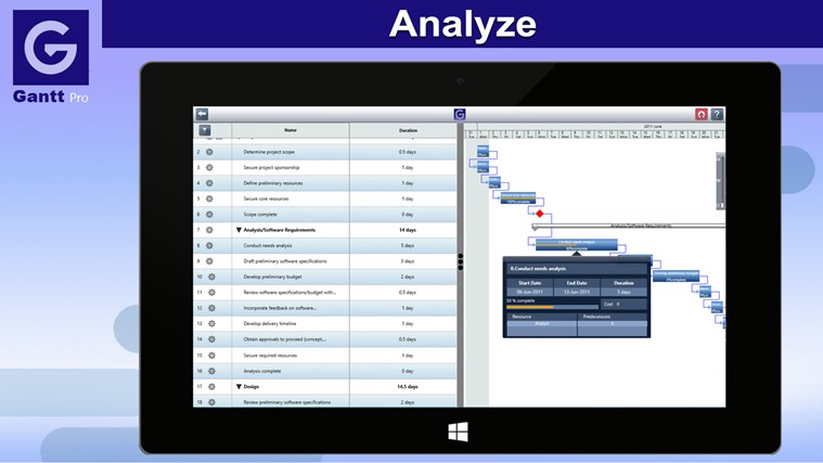 Gantt Pro screen shot 3