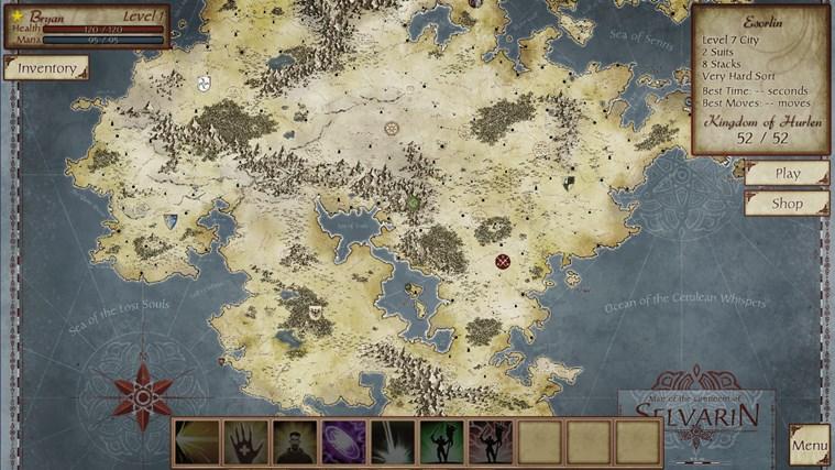 FreeCell Quest screen shot 1