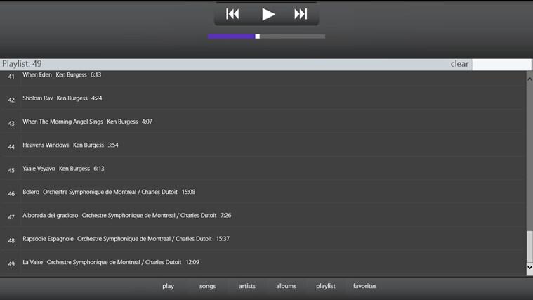 MPD music screen shot 3
