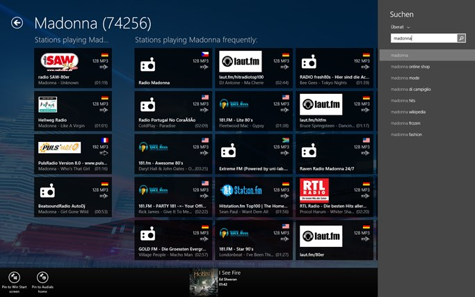 Audials Radio skjermbilde 3
