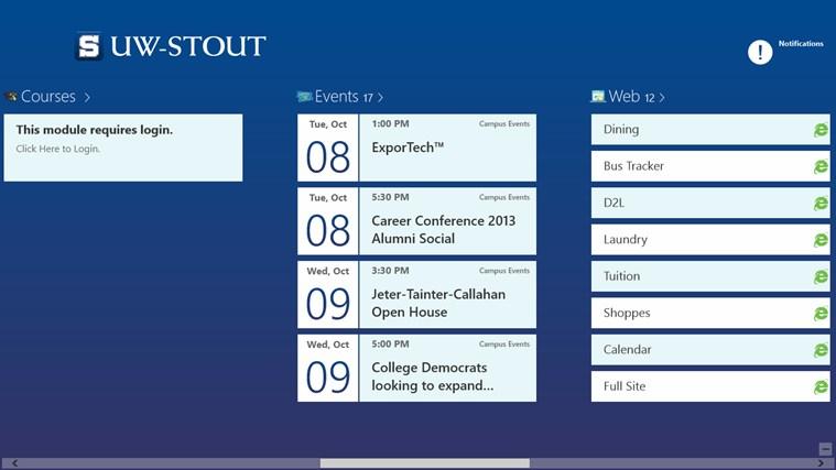 UW-Stout screen shot 1