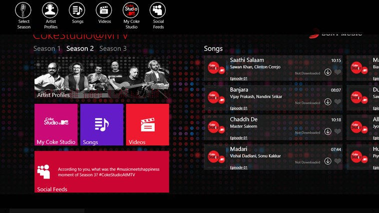 CokeStudio @MTV screen shot 1