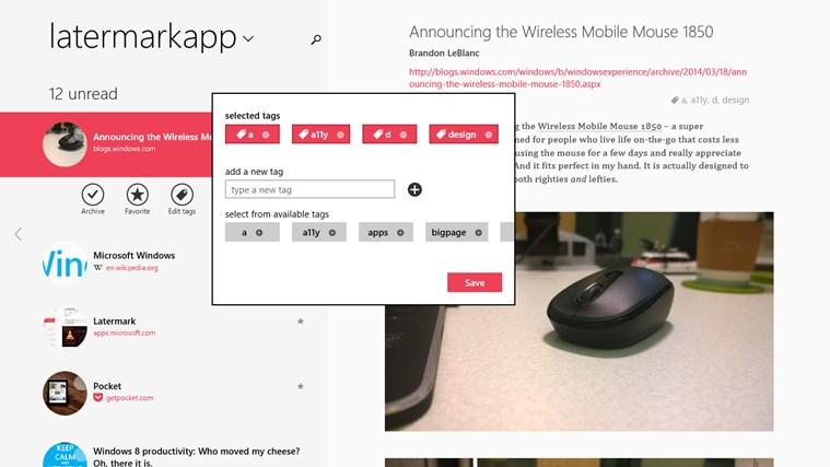 Screenshot.247724.1000002 Latermark: Pocket auf Windows 8 & Windows RT nutzen