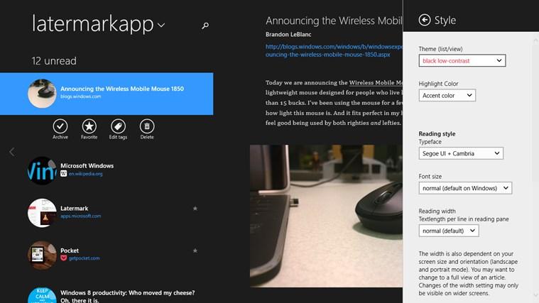 Screenshot.247724.1000006 Latermark: Pocket auf Windows 8 & Windows RT nutzen
