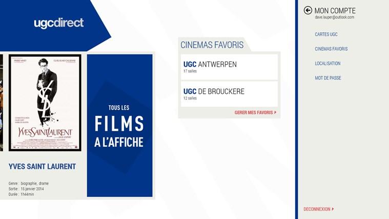 UGC Direct BE capture d'écran 1