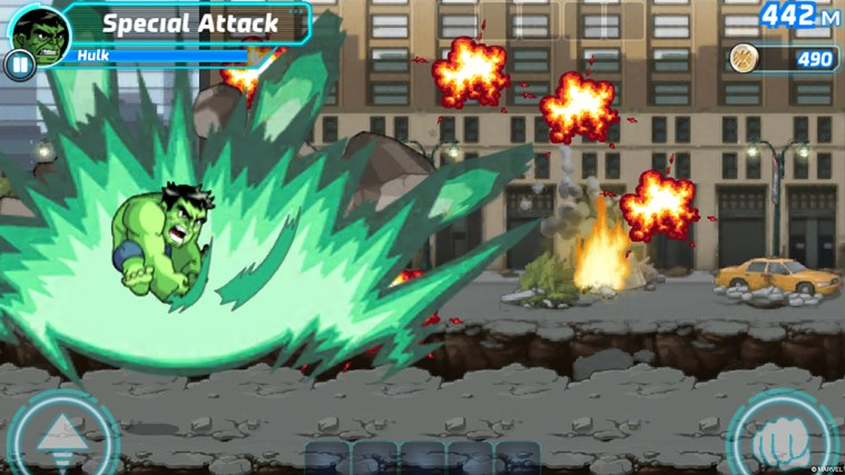 Marvel Run Jump Smash! screen shot 1