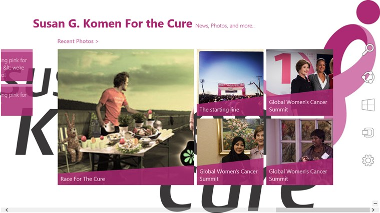 Susan G. Komen For the Cure App screen shot 1