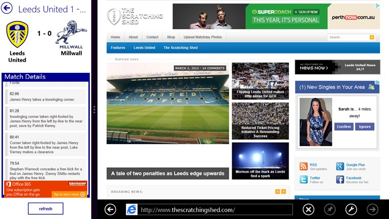 Leeds United Hub screen shot 5