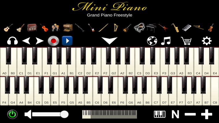 Mini Piano ® petikan skrin 1