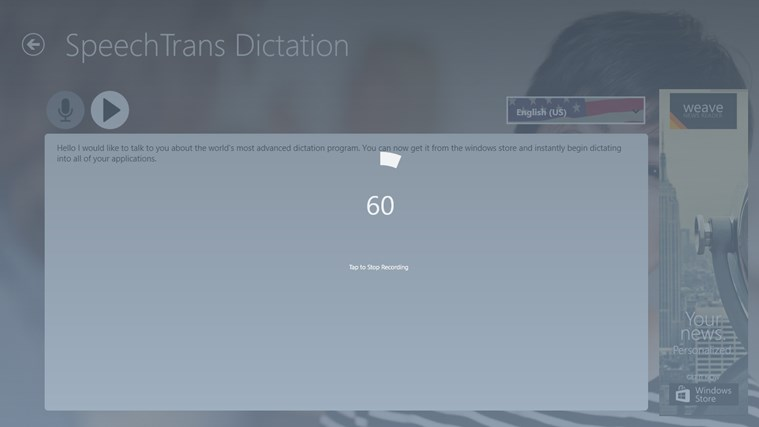 SpeechTrans Dictation screen shot 3