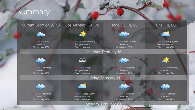 Elements Weather Forecast screen shot 1