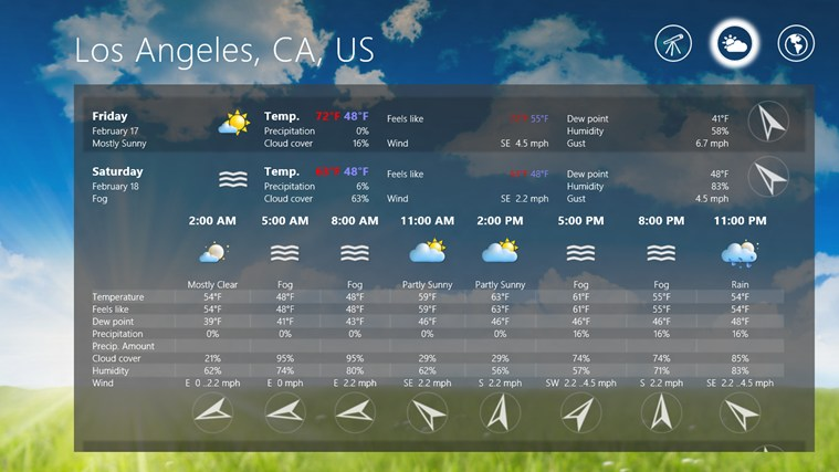 Elements Weather Forecast screen shot 5