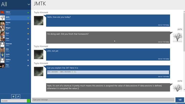 Mercury Chat screen shot 1