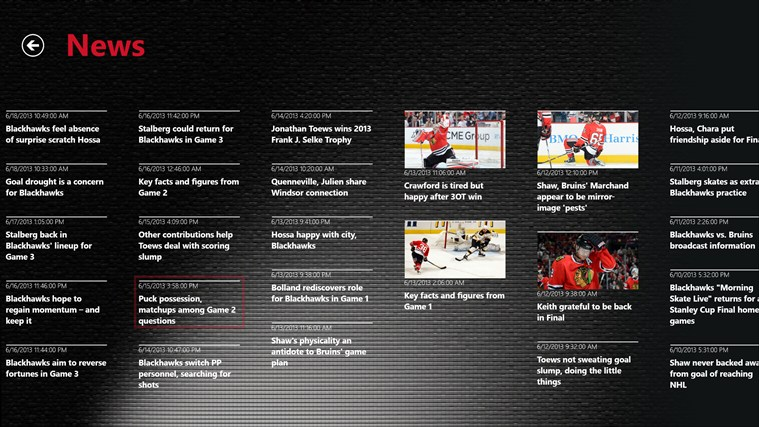 Chicago Blackhawks screen shot 1