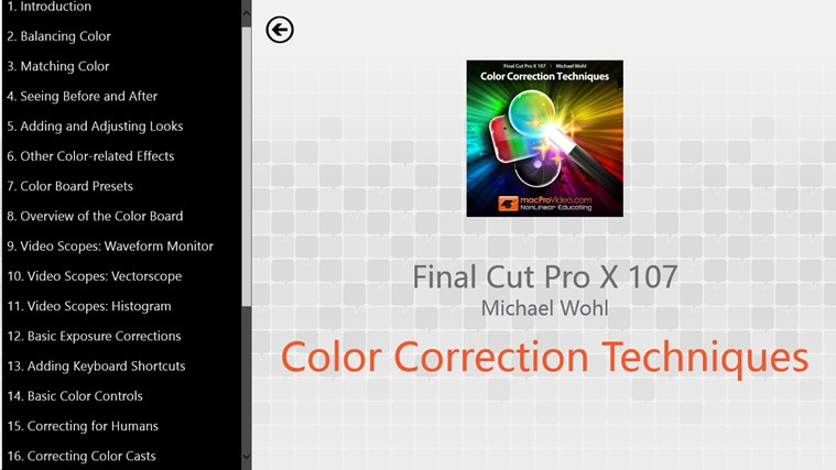 Final Cut Pro X - Color Correction ภาพหน้าจอ 1
