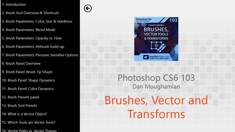 Photoshop CS6 - Brushes, Vector Tools & Transforms schermafbeelding 1